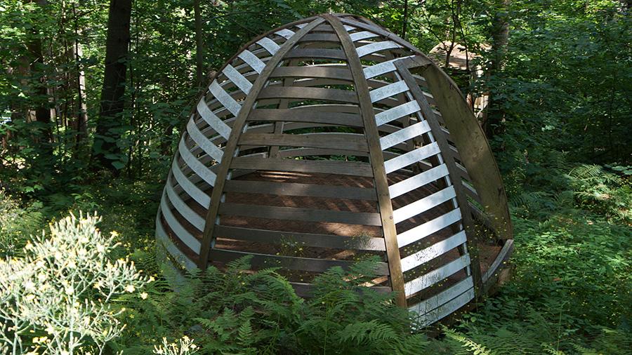Hive Building Height: 6'; Diameter: 10' 1 1/4 Hemlock wood and building materials.