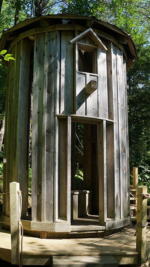 Water Tower Building Height: 13'; Diameter: 10' 6 Hemlock wood and building materials.